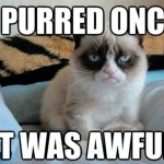 Grumpy purred once